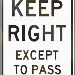 when to use the passing lane - left lane