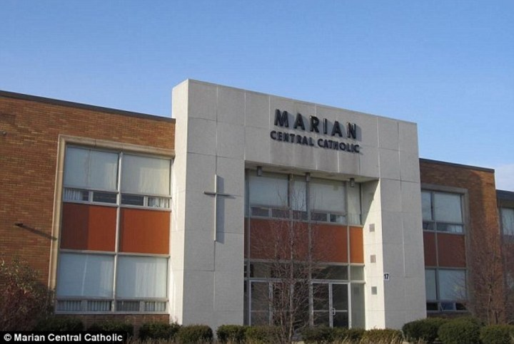 Front of Marian Central Catholic.