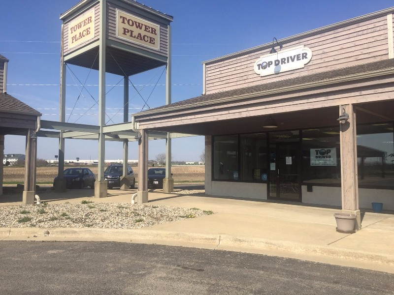 Manteno Driving School, outside of building