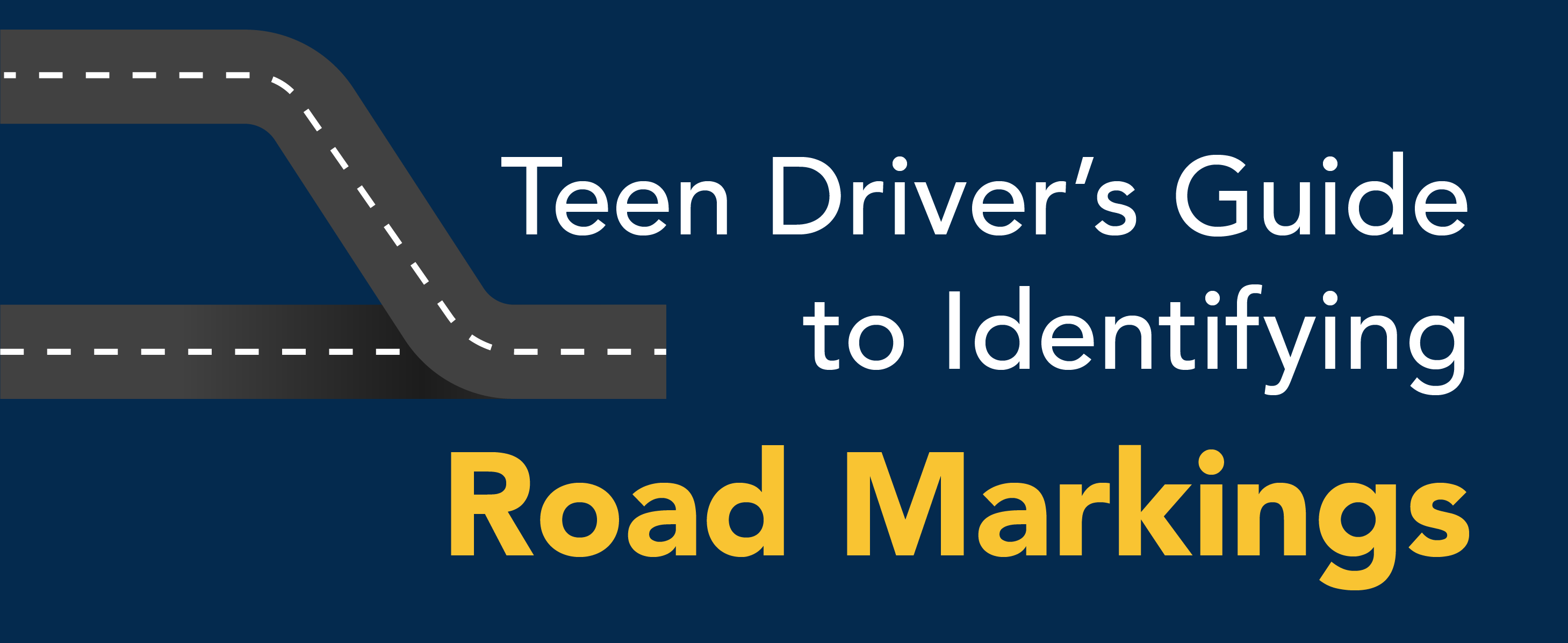 Teen driver's guide to identifying road markings