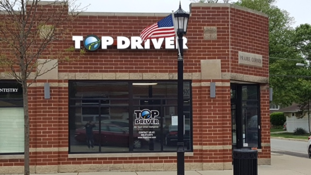 Elmhurst, IL Top Driver Location, outside of building