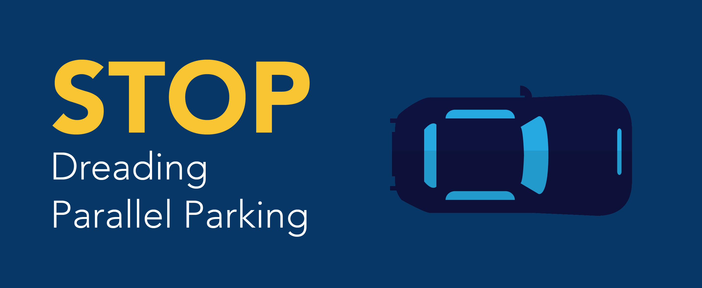 Stop dreading parallel parking. *car graphic*