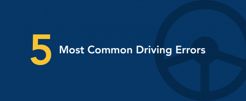 5 most common driving errors