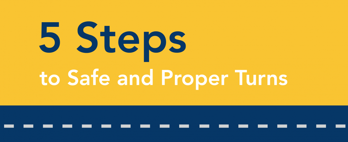 5 steps to safe and proper turns.