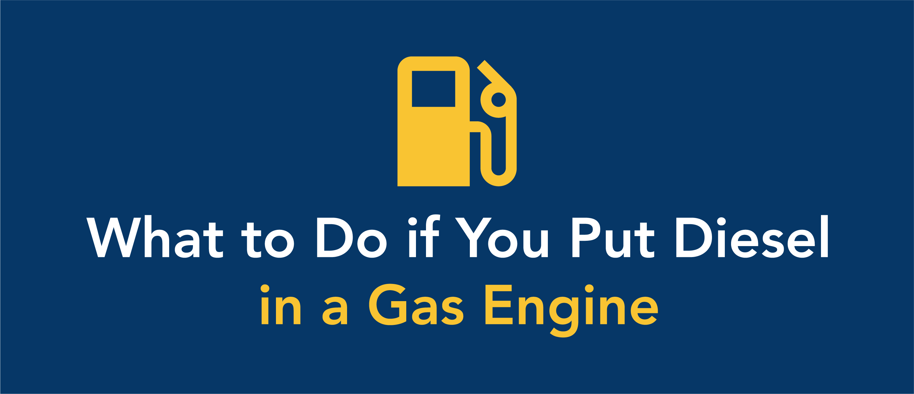 What to do if you put diesel in a gas engine.