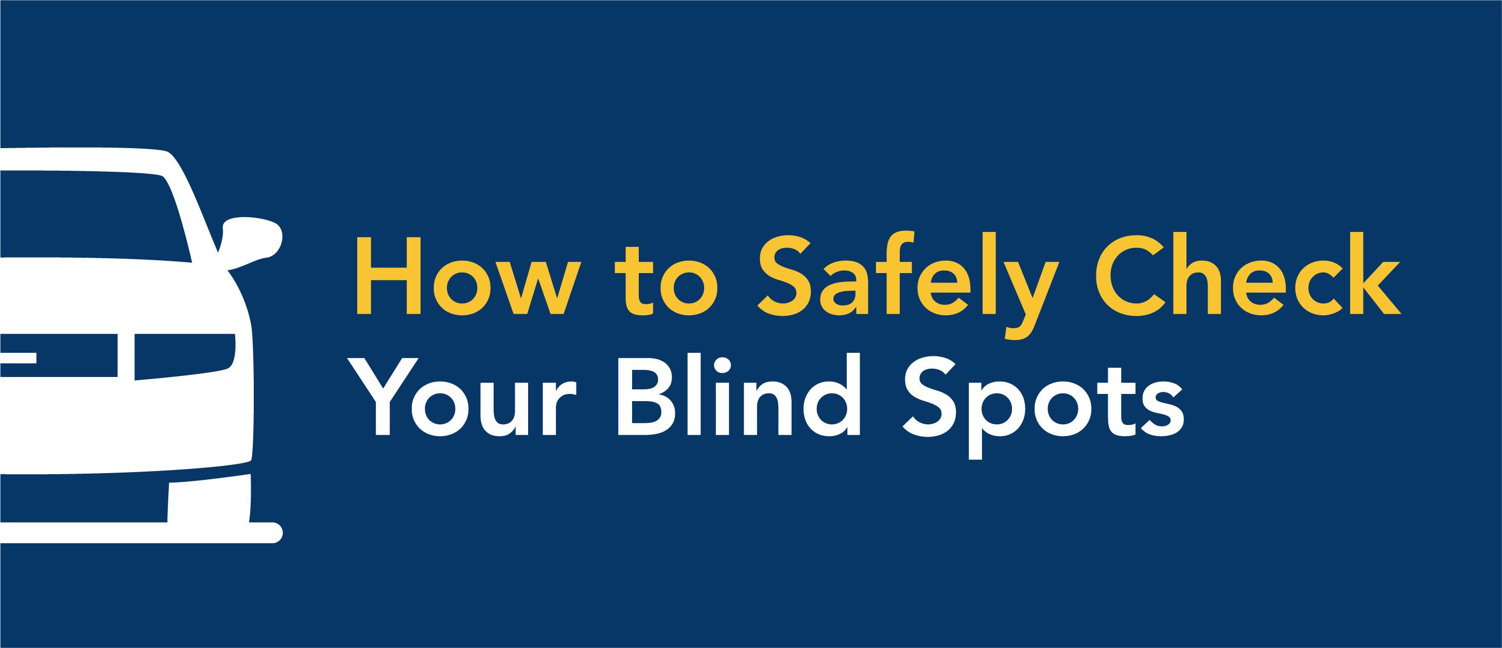 check for blind spots