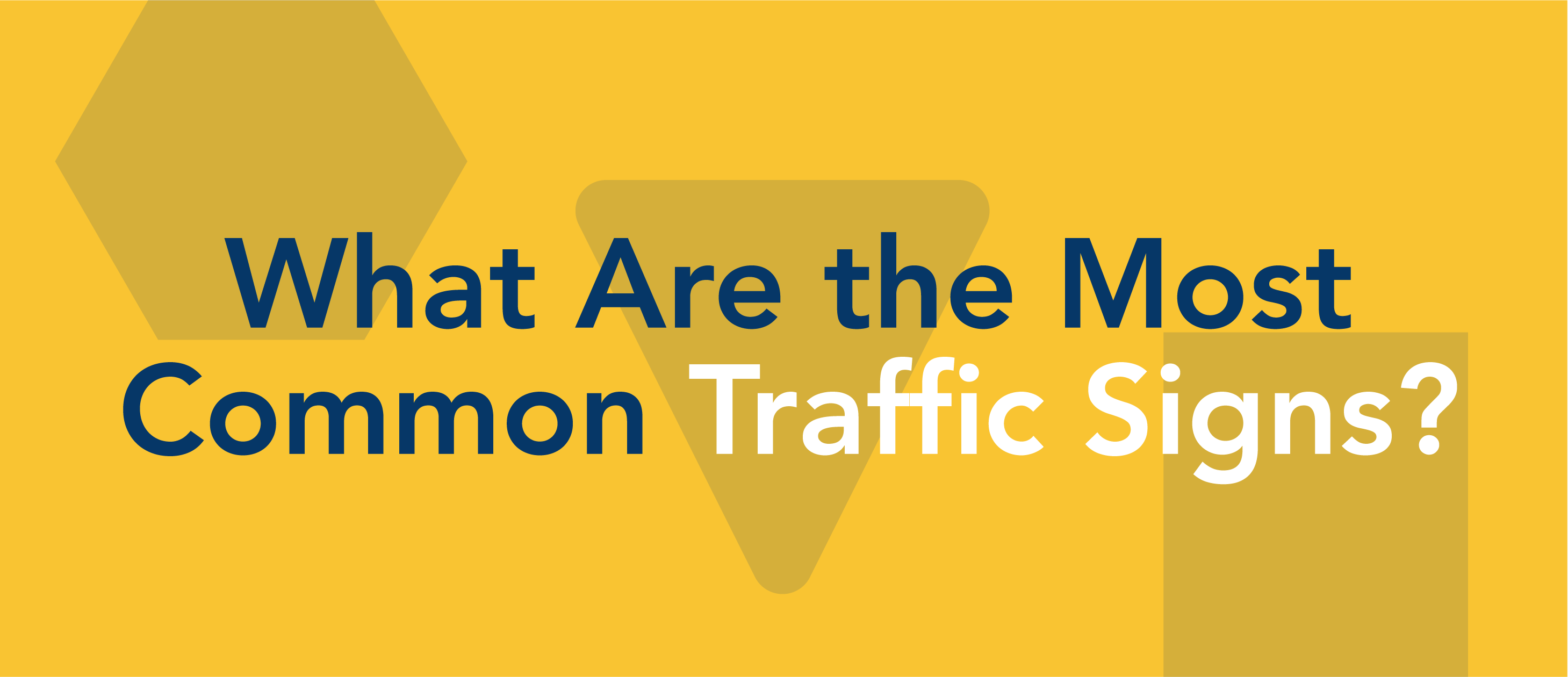most common traffic signs