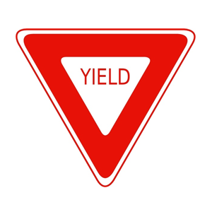 yield traffic sign