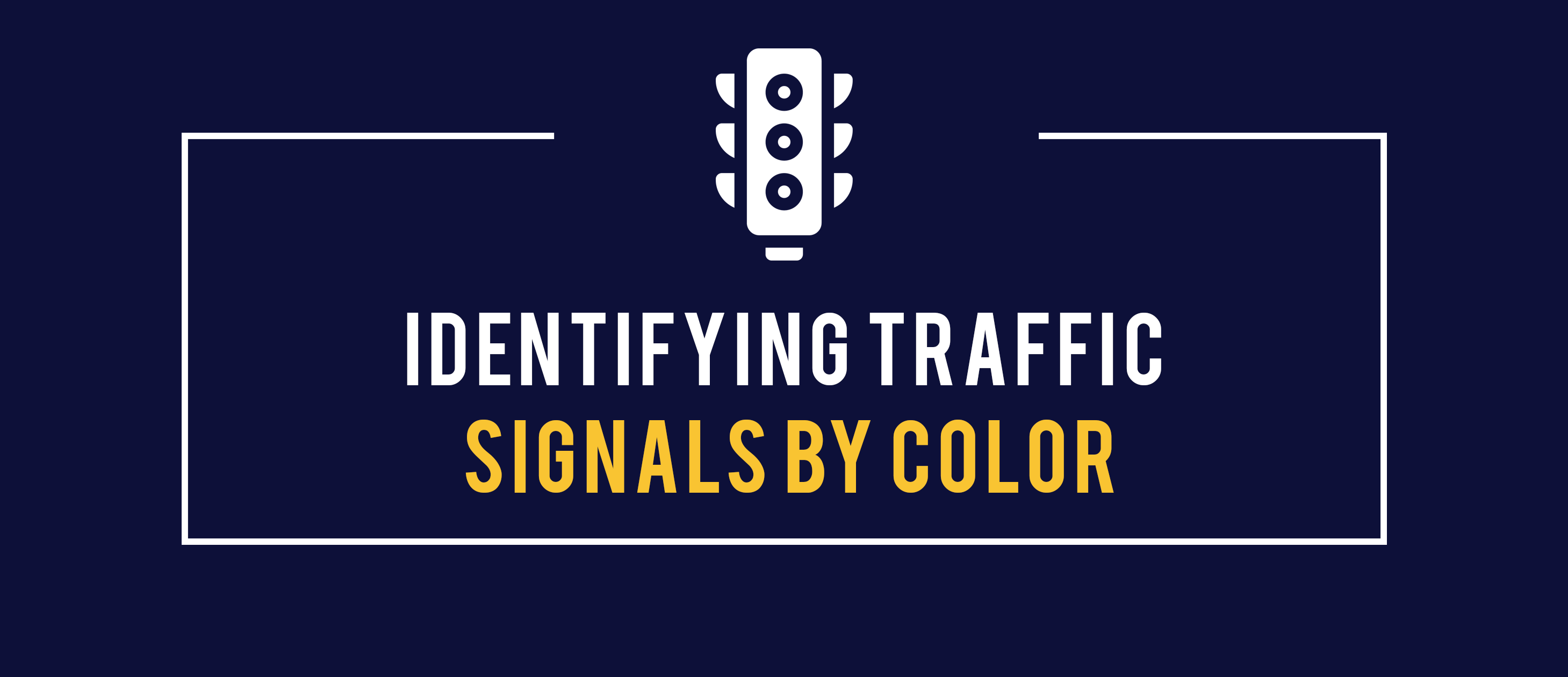 identifying traffic signals by color
