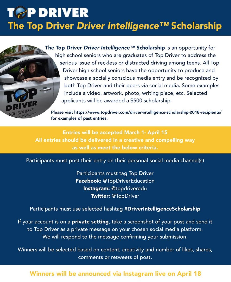 Top Driver, Driver Intelligence Scholarship 2019